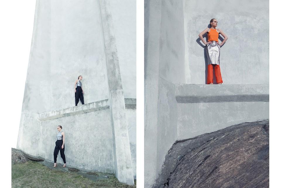 Conceptual fashion shoot for designer Emelie Arvidsson