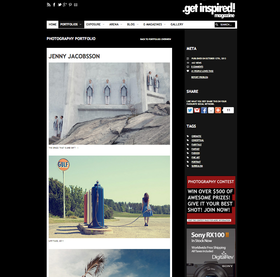 Feature and interview in .Get Inspired! Magazine
