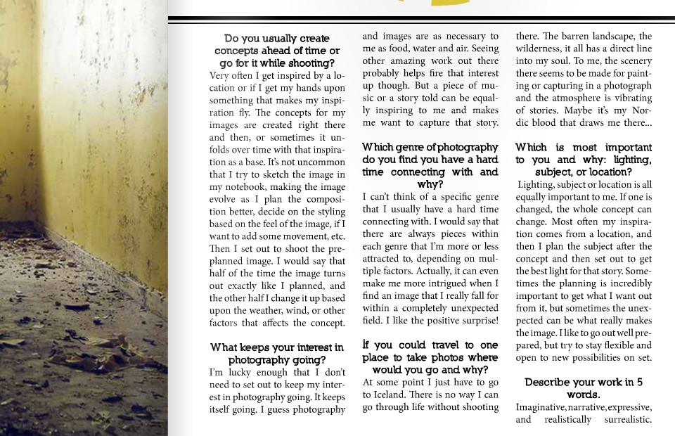 Feature and interview in Golden Age Magazine