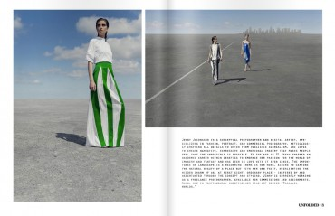 The making of the fashion editorial 'End of line' in Unfolded Magazine