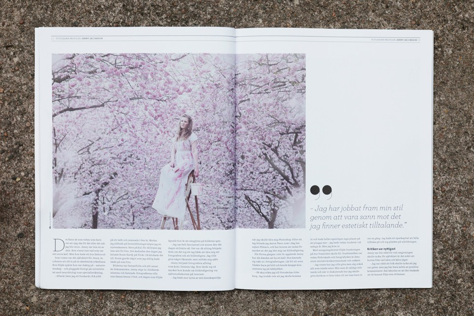 Large interview and feature published in Fotosidan Magasin