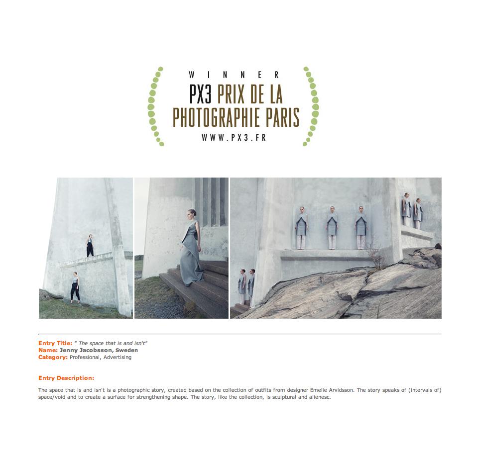 Winner in PX3, Prix de la Photographie Paris, 2014