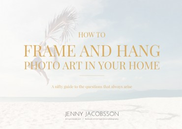 How to frame and hang photo art in your home