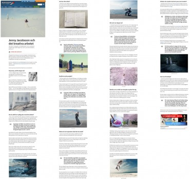 Interview and feature for Moderskeppet – Behind the creative work