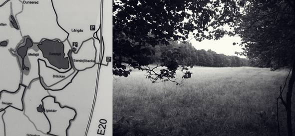 A map and meadow at Sandsjöbacka